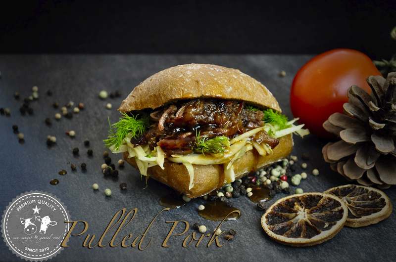 Burger mit Pulled Pork Favorite Sweet Style