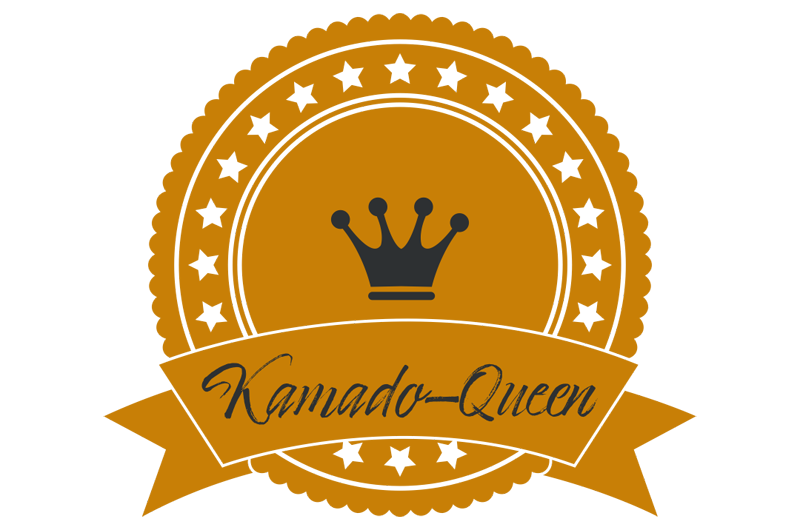 Logo der Kamado-Queen im dezenten orange.